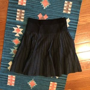 ✨nwt!!✨ black & gray high waist knit skirt